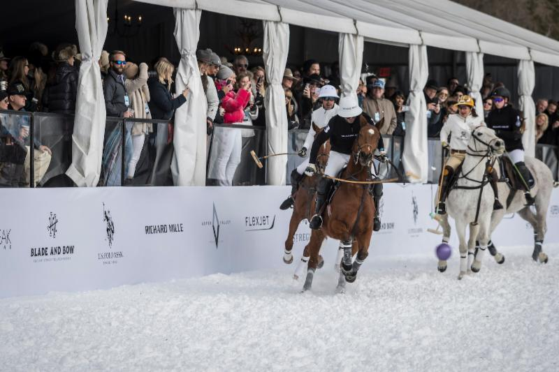 Pablo MacDonough of Richard Mille_ Official Timekeeper hits a neck shot in front of Nacho Figueras