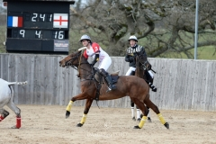 The Playnation Arena Polo Test Match at The All England Polo Club, Hickstead, 02/03/2019 - High Goal Challenge: Hedonism Wines v Centtrip Wales - Test Match for the Brian Morrison Tropby: England vs France - © www.imagesofpolo.com