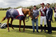 Best Playing Pony - Open Kattia, played and owned by Facundo Pieres, presented by USPA CEO Robert Puetz, and pictured with Javier Fiel ©United States Polo AssociationDavid Lominska